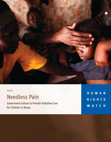 Needless Pain - Human Rights Watch