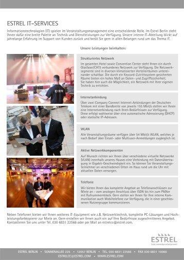 IT-Services zum Download - Estrel Hotel