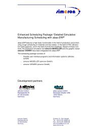 Detailed Manufacturing Planning with abas-ERP - simcron