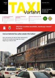 """""""Hamburger Modell"""" für Berlin - Taxi Vorfahrt"""