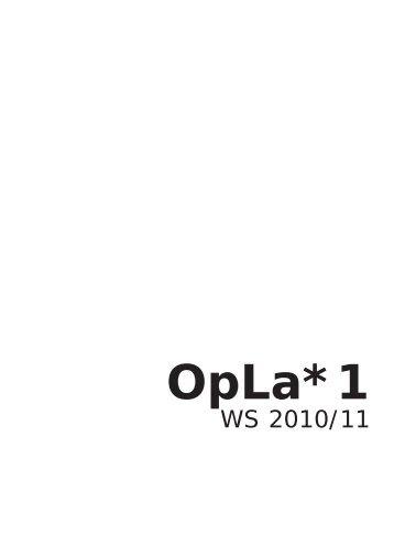 OpLa*1 - Fakultät VI Planen Bauen Umwelt