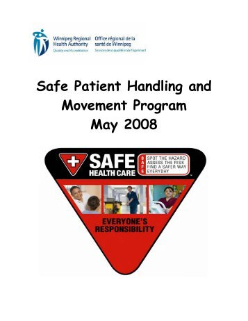 wrha safe patient handling and movement program - Winnipeg ...
