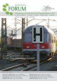 Ist der Zug schon abgefahren? - Gesamtkirchengemeinde Schwäbisch Hall