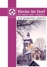 Gemeindebrief Nr. 95 Dezember 2010 / Januar 2011