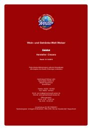 Katalog für Hersteller: Cinzano - Wein