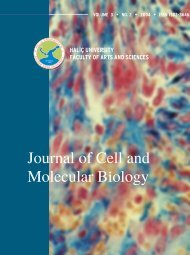 hal‹ç university faculty of arts and sciences - Journal of Cell and ...