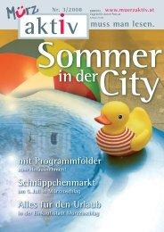 Sommer in der City - Stadtgemeinde Mürzzuschlag