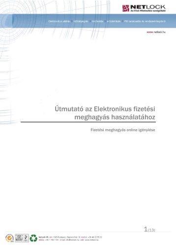 FMH Használati útmutató - NetLock Kft.