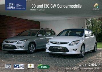 "Preisliste i30 Sondermodelle ""Life"" - Hyundai"