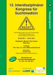 12. Interdisziplinärer Kongress für Suchtmedizin - Ihr kompetenter ...