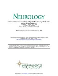 Donepezil preserves cognition and global function in patients
