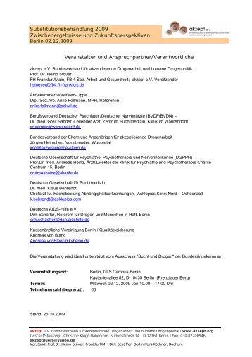 Substitutionsbehandlung_2009 - Deutsche Gesellschaft für ...