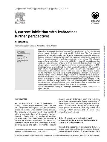 I current inhibition with ivabradine - European Heart Journal ...