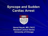 Syncope and SCD Cards Lecture Series 2011-2012 - The University ...