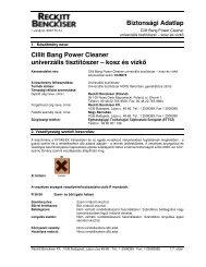 Biztonsági Adatlap Cillit Bang Power Cleaner ... - CsóKer'60 Kft.