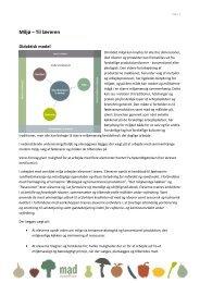 Miljø – Til læreren - Økologisk Landsforening