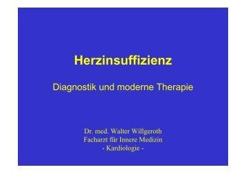Herzinsuffizienz, Diagnostik und moderne Therapie