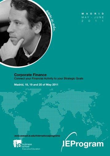 Corporate Finance - Executive Education - IE