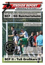 Stadion Report Internet Ausgabe 6 - SC Frasdorf