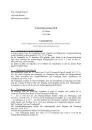 Prof. Christoph Schmid Universität Bremen FB Rechtswissenschaften