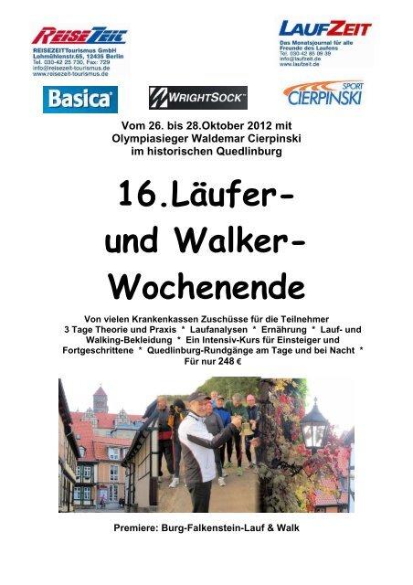 16.Läufer- und Walker Wochenende - REISEZEIT Tourismus GmbH