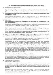 Aus der 83. Stadtratssitzung des Stadtrates der Stadt Rieneck am ...