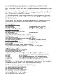 Aus der 49. Stadtratssitzung des Stadtrates der Stadt Rieneck am 21 ...