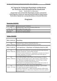 Programm - Tierärztliche Fakultät der LMU - Ludwig-Maximilians ...