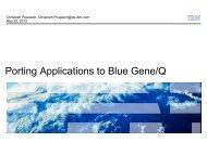Porting Applications to Blue Gene/Q - Prace Training Portal
