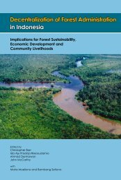 Decentralization of forest administration in Indonesia ... - CIFOR