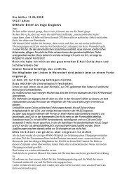 Offener Brief an Ingo Engbert - demokratisch - links