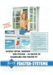 VEKA-Energiesparfenster sind optimal