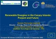 Renewable Energies in the Canary Islands - European Renewable ...
