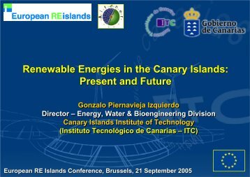 Renewable Energies in the Canary Islands - European Renewable ...