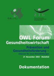 Chancen für neue Dienstleistungen 27. November 2003 - ZIG