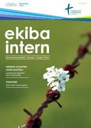 Mitarbeitendenzeitschrift Ekiba Intern / September / Ausgabe 7/2012