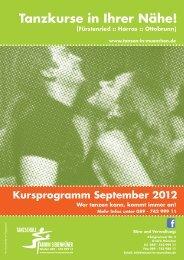 Kursprogramm September - Tanzen beim Siebenhüner