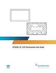 "ET2639L 26"" LCD Touchmonitor User Guide - Elo TouchSystems"