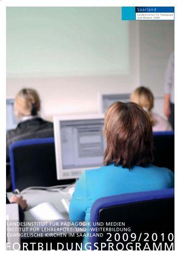 fortbildungsprogramm 2009/2010 - Landesinstitut für Pädagogik und ...