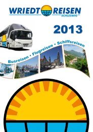 Download Wriedt-Reisen Katalog 2013 - Schmidt-Reisen