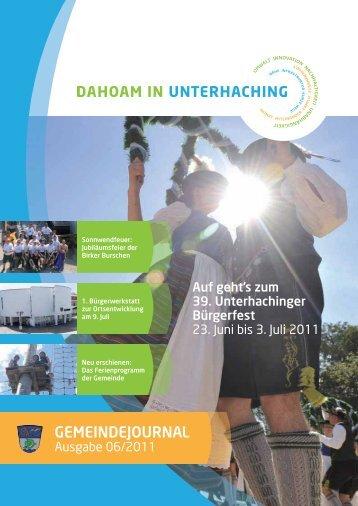 GEMEINDEJOURNAL - Gemeinde Unterhaching