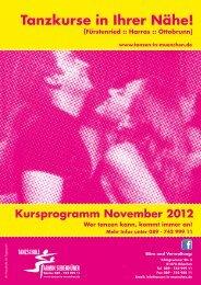Kursprogramm November - Tanzen beim Siebenhüner