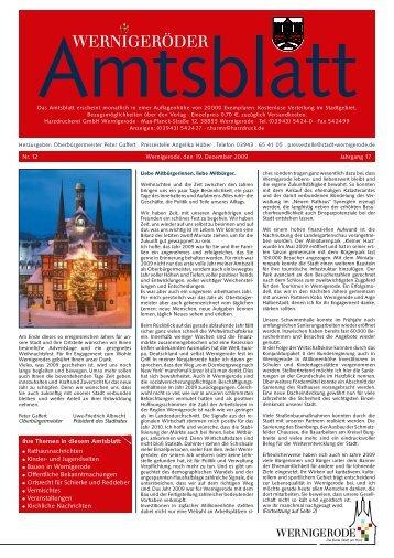 Oberbürgermeister Peter Gaffert . Pressestelle - Stadt Wernigerode