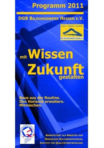 Programm 2011 web-Layout 1 - DGB Bildungswerk Hessen eV