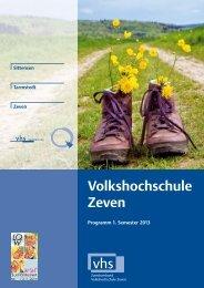 Kursheft 2013 1. Semester - Download pdf - VHS Zeven