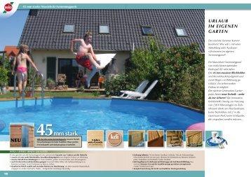 45mm stark kdi - Schwimmbecken Selbstbau