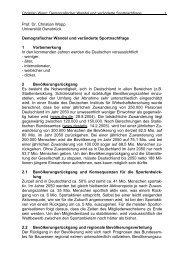 Prof. Dr. Christian Wopp Universität Osnabrück Demografischer ...