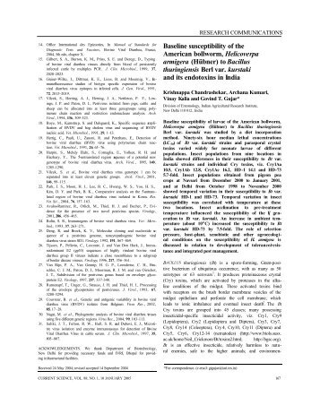 Baseline susceptibility of the American bollworm, Helicoverpa ...