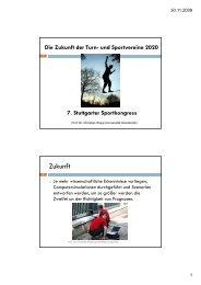 Die Zukunft der Turn- und Sportvereine 2020 7. Stuttgarter ...