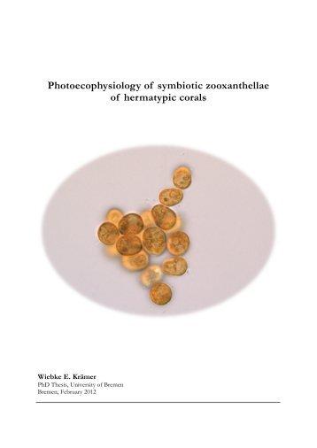 Photoecophysiology of symbiotic zooxanthellae of ... - E-LIB